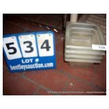 PLASTIC 1 QT SQUARE FOOD CONTAINER (4X MONEY)