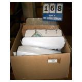 BOX: ASSORTED PLASTIC WINE, CHAMPAIGNE GLASSES