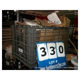 PLASTIC CRATE: ASSORTED PAPER BAGS
