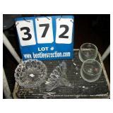 BIN: ASSORTED DECORATIVE GLASSWARE