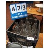 MILK CRATE: GLASS BOTTLES (12X MONEY)