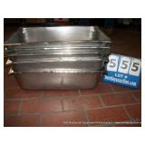 STAINLESS STEEL FOOD WARMER PANS (5X MONEY)