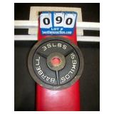 BARBELL 35 LB. METAL WEIGHT PLATE