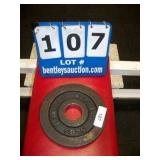 BARBELL 5 LB. METAL WEIGHT PLATE