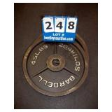 BARBELL 45 LB. METAL WEIGHT PLATE