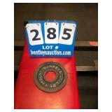 BARBELL 2-1/2 LB. METAL WEIGHT PLATE