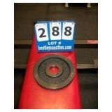 BARBELL 10 LB. METAL WEIGHT PLATE
