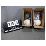 BOXES: ASSORTED CEILING MOUNT SMOKE DETECTORS (2X