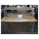 BUTCHER BLOCK/ METAL WORKBENCH
