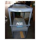 2 TIER CASTERED METAL CART
