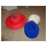 3 Vintage Hats