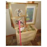 End tables and 4 pictures art