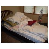 Twin bedding, memory foam pad, sheets, pillows