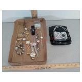 Watches, timex, quartz, Anne klein & sony digital