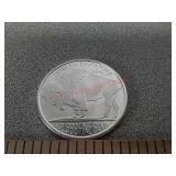 Native American buffalo silver round 1 oz .999