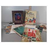 Assorted books and magazines, disney world books,