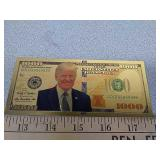 Novelty Donald Trump $1000 gold note