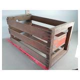 Vintage blue goose melons wood crate