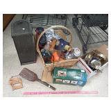 Job Lot mailbox, boombox radio, decor items, Tire