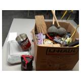 Job Lot assorted items, painting supplies, steel