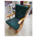 Green wooden glider rocker chair - very good