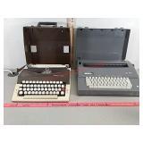 2 typewriters. Royal Safari and Smith Corona