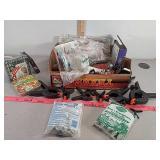 Job Lot, clamps, tools, bird feed, fertalizer
