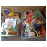 Kids crafting supplies, puzzles, games +