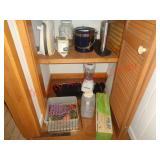 Pantry contents - appliances, aprons +