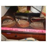 3 Antique sad irons