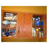 Contents 2 cupboards - cleaners, washcloths +