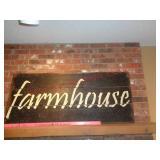 """Large barnwood """"farm house"""" sign"""