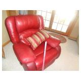 Leather rocker / recliner / reclining chair