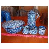 blue enamelware