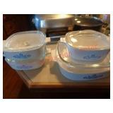 4 Corningware casserole dishes w/ lids