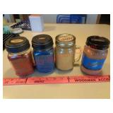 4 new & used candles - Blue Moon & Sugar Shack