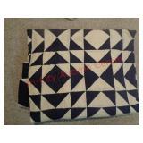 Navy blue & white quilt / blanket