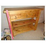 Wood hall / sofa table stand