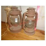 2 barn lanterns