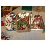 Christmas decor - snowman, enamel cups +