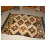 "Native American design accent rug - 47"" x 72"""