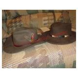 Scala sz small & Elan Blano sz medium western hats
