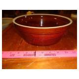 Brown crock bowl