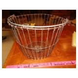 Antique metal egg basket