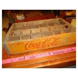 Coca-Cola soda pop bottle wood crate