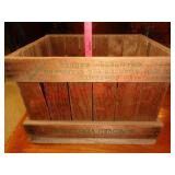 Beatons cranberry wood crate