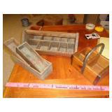 Primitive wood boxes