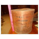 Antique 30 lb coffee tub / barrel