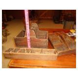 Primitive wood nail / carpenters tool boxes