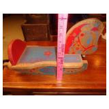 Vintage small wood Spotty rocking horse
